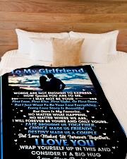 "GF006 Large Fleece Blanket - 60"" x 80"" aos-coral-fleece-blanket-60x80-lifestyle-front-02"