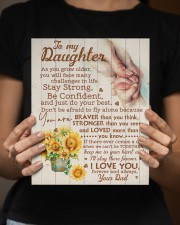 CV - DD0001 - GIFT FOR DAUGHTER FROM DAD 8x10 Easel-Back Gallery Wrapped Canvas aos-easel-back-canvas-pgw-8x10-lifestyle-front-16
