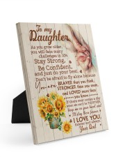 CV - DD0001 - GIFT FOR DAUGHTER FROM DAD 8x10 Easel-Back Gallery Wrapped Canvas front