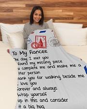 "FE014 Large Fleece Blanket - 60"" x 80"" aos-coral-fleece-blanket-60x80-lifestyle-front-05"