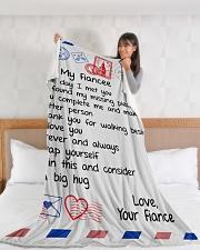 "FE014 Large Fleece Blanket - 60"" x 80"" aos-coral-fleece-blanket-60x80-lifestyle-front-11"