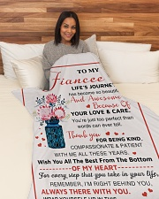 "FE007 Large Fleece Blanket - 60"" x 80"" aos-coral-fleece-blanket-60x80-lifestyle-front-05"