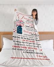 "FE007 Large Fleece Blanket - 60"" x 80"" aos-coral-fleece-blanket-60x80-lifestyle-front-11"