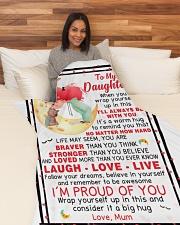 "1 Large Fleece Blanket - 60"" x 80"" aos-coral-fleece-blanket-60x80-lifestyle-front-05"