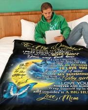 "DM003 Large Fleece Blanket - 60"" x 80"" aos-coral-fleece-blanket-60x80-lifestyle-front-06"