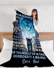 "DD014 Large Fleece Blanket - 60"" x 80"" aos-coral-fleece-blanket-60x80-lifestyle-front-11"