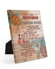 BF0001 - GIFT FOR YOUR BOYFRIEND 8x10 Easel-Back Gallery Wrapped Canvas front