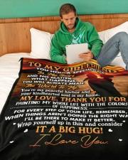 "GF014 Large Fleece Blanket - 60"" x 80"" aos-coral-fleece-blanket-60x80-lifestyle-front-06"