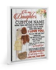 CV - DU0004 - GIFT FOR DAUGHTER FROM MUM Floating Framed Canvas Prints White tile