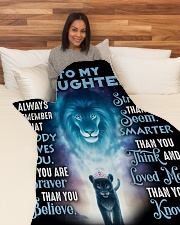 "DD010 Large Fleece Blanket - 60"" x 80"" aos-coral-fleece-blanket-60x80-lifestyle-front-05"