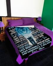 """SU003  Large Fleece Blanket - 60"""" x 80"""" aos-coral-fleece-blanket-60x80-lifestyle-front-01"""