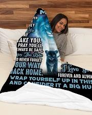 """SU003  Large Fleece Blanket - 60"""" x 80"""" aos-coral-fleece-blanket-60x80-lifestyle-front-03"""