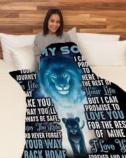"""SU003  Large Fleece Blanket - 60"""" x 80"""" aos-coral-fleece-blanket-60x80-lifestyle-front-05"""