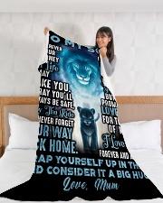 """SU003  Large Fleece Blanket - 60"""" x 80"""" aos-coral-fleece-blanket-60x80-lifestyle-front-11"""