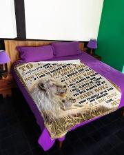 """SU001  Large Fleece Blanket - 60"""" x 80"""" aos-coral-fleece-blanket-60x80-lifestyle-front-01"""