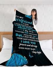 "GF018 Large Fleece Blanket - 60"" x 80"" aos-coral-fleece-blanket-60x80-lifestyle-front-11"