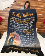 """BLANKET - FE0004 - GIFT FOR FIANCEE Large Fleece Blanket - 60"""" x 80"""" aos-coral-fleece-blanket-60x80-lifestyle-front-04a"""