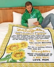 "DM011 Large Fleece Blanket - 60"" x 80"" aos-coral-fleece-blanket-60x80-lifestyle-front-06"
