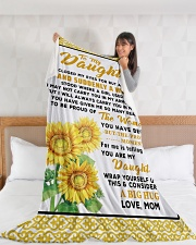 "DM011 Large Fleece Blanket - 60"" x 80"" aos-coral-fleece-blanket-60x80-lifestyle-front-11"
