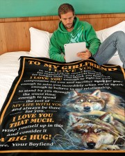 "GF012 Large Fleece Blanket - 60"" x 80"" aos-coral-fleece-blanket-60x80-lifestyle-front-06"