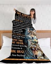 "GF012 Large Fleece Blanket - 60"" x 80"" aos-coral-fleece-blanket-60x80-lifestyle-front-11"