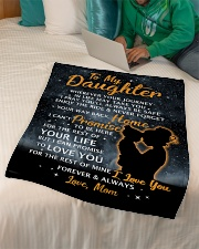"""GIFT FOR DAUGHTER Small Fleece Blanket - 30"""" x 40"""" aos-coral-fleece-blanket-30x40-lifestyle-front-07"""