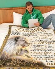 "DD019 Large Fleece Blanket - 60"" x 80"" aos-coral-fleece-blanket-60x80-lifestyle-front-06"