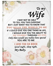 """GIFT FOR WIFE  Large Fleece Blanket - 60"""" x 80"""" front"""