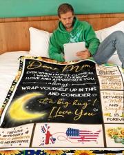 "CM002 Large Fleece Blanket - 60"" x 80"" aos-coral-fleece-blanket-60x80-lifestyle-front-06"