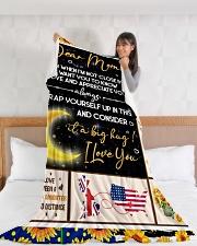 "CM002 Large Fleece Blanket - 60"" x 80"" aos-coral-fleece-blanket-60x80-lifestyle-front-11"