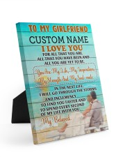 CV - GF0006 - GIFT FOR GIRLFRIEND 8x10 Easel-Back Gallery Wrapped Canvas front