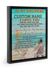 CV - GF0006 - GIFT FOR GIRLFRIEND Floating Framed Canvas Prints Black tile