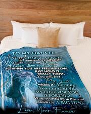 "FE016 Large Fleece Blanket - 60"" x 80"" aos-coral-fleece-blanket-60x80-lifestyle-front-02"
