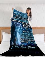 "FE016 Large Fleece Blanket - 60"" x 80"" aos-coral-fleece-blanket-60x80-lifestyle-front-11"