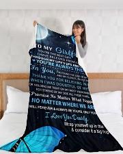 "GF008 Large Fleece Blanket - 60"" x 80"" aos-coral-fleece-blanket-60x80-lifestyle-front-11"