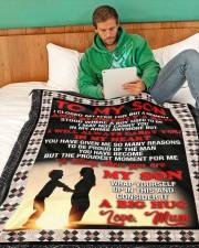 """SU004  Large Fleece Blanket - 60"""" x 80"""" aos-coral-fleece-blanket-60x80-lifestyle-front-06"""