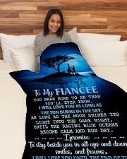 "FE013 Large Fleece Blanket - 60"" x 80"" aos-coral-fleece-blanket-60x80-lifestyle-front-05"