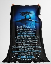 "FE013 Large Fleece Blanket - 60"" x 80"" aos-coral-fleece-blanket-60x80-lifestyle-front-10"