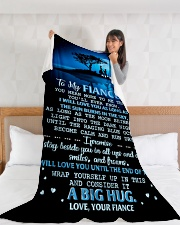 "FE013 Large Fleece Blanket - 60"" x 80"" aos-coral-fleece-blanket-60x80-lifestyle-front-11"