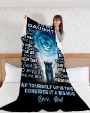 "DD009  Large Fleece Blanket - 60"" x 80"" aos-coral-fleece-blanket-60x80-lifestyle-front-11"