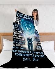 "DD002  Large Fleece Blanket - 60"" x 80"" aos-coral-fleece-blanket-60x80-lifestyle-front-11"