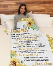 "DU010 Large Fleece Blanket - 60"" x 80"" aos-coral-fleece-blanket-60x80-lifestyle-front-05"