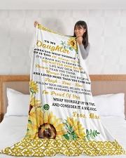 "DU010 Large Fleece Blanket - 60"" x 80"" aos-coral-fleece-blanket-60x80-lifestyle-front-11"