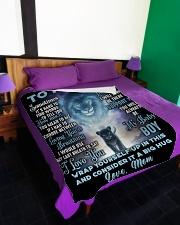 "SM002 Large Fleece Blanket - 60"" x 80"" aos-coral-fleece-blanket-60x80-lifestyle-front-01"