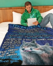 "FE011 Large Fleece Blanket - 60"" x 80"" aos-coral-fleece-blanket-60x80-lifestyle-front-06"