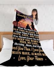 "FE005 Large Fleece Blanket - 60"" x 80"" aos-coral-fleece-blanket-60x80-lifestyle-front-11"