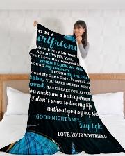 "GF021 Large Fleece Blanket - 60"" x 80"" aos-coral-fleece-blanket-60x80-lifestyle-front-11"