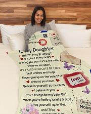 "DM012 Large Fleece Blanket - 60"" x 80"" aos-coral-fleece-blanket-60x80-lifestyle-front-05"