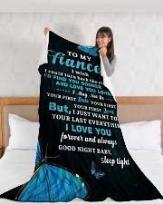 "FE015 Large Fleece Blanket - 60"" x 80"" aos-coral-fleece-blanket-60x80-lifestyle-front-11"