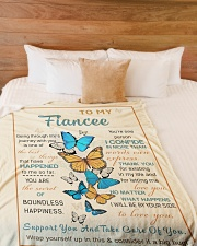 "FE008 Large Fleece Blanket - 60"" x 80"" aos-coral-fleece-blanket-60x80-lifestyle-front-02"